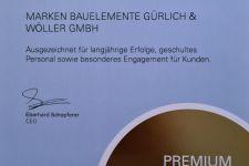 Urkunde Premium Fach Partner 2021