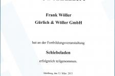 Ehret Schiebeladenschulung 2013 - Hr. Wöller, Frank