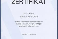 """Ehret Klappladenschulung """"Montage"""" 2018 - Hr. Wöller, Frank"""
