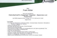 Roma Elektrofachkraft für festgelegte Tätigkeiten - Basismodul und Praxismodul 2020 Frank Wöller