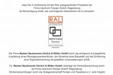 Internorm RAL-Montage 2020 - MARKEN Bauelemente