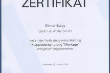"""Ehret Klappladenschulung """"Montage"""" 2018 - Hr. Buley"""