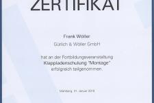 """Ehret Klappladenschulung """"Montage"""" 2019 - Hr. Frank Wöller"""